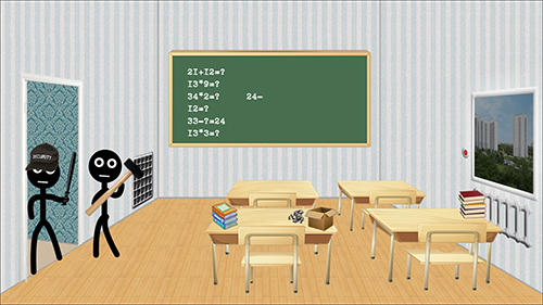 Funny games Stickman college in English