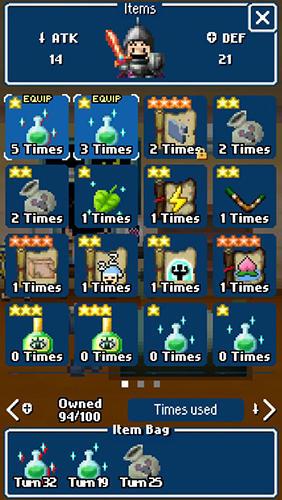Screenshot Dandy Dungeon auf dem iPhone