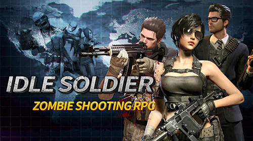 Idle soldier: Zombie shooter RPG PvP clicker скриншот 1