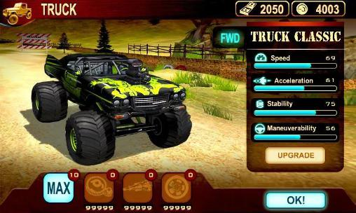 Offroad hill racing in English