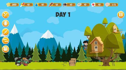 Strategiespiele Zombie forest für das Smartphone