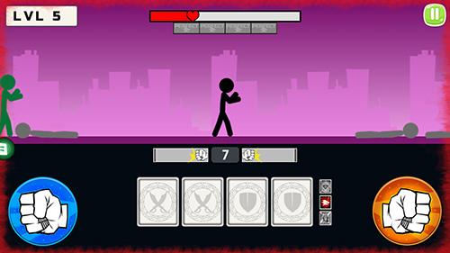 Kampfspiele Stickman fight 2018 für das Smartphone