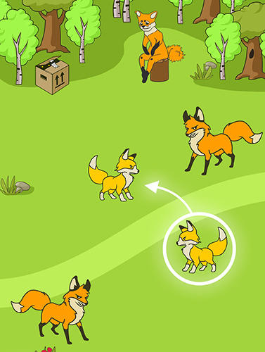 Angry fox evolution: Idle cute clicker tap game на русском языке