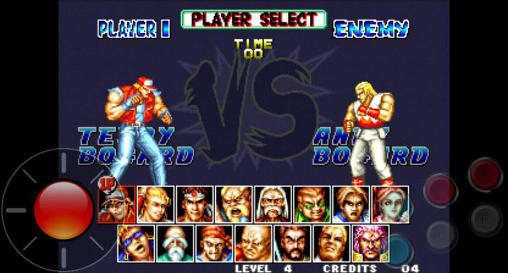Fighting games Fatal fury: Special for smartphone