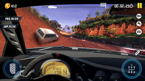 Dirt car racing: An offroad car chasing game für Android