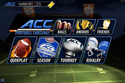 Multiplayer games: download ACC football challenge 2014 to your phone