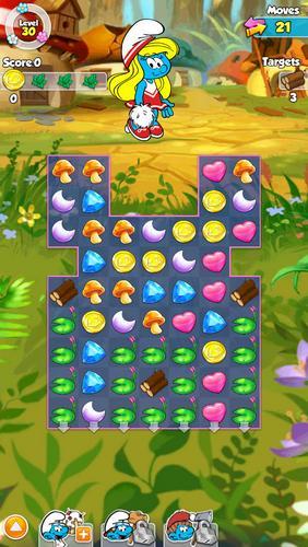 Smurfette's magic match auf Deutsch