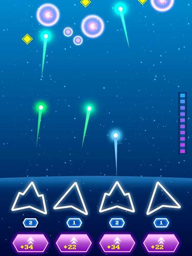 Arcade Non-stop space defense für das Smartphone
