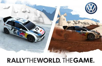 logo Rally the World. The game
