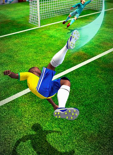 Sport Shoot 2 goal: World multiplayer soccer cup 2018 für das Smartphone
