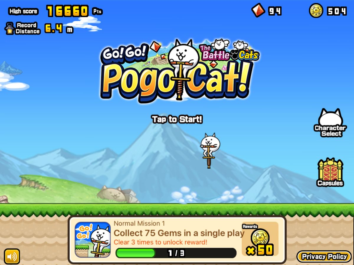 Go! Go! Pogo Cat screenshot 1
