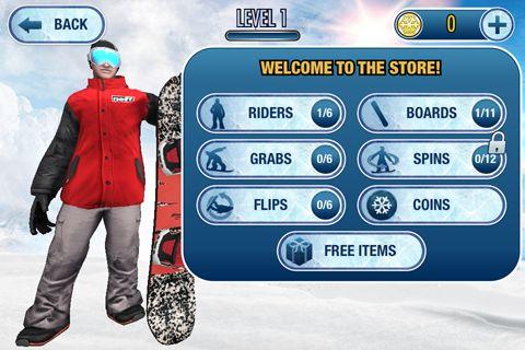 Arcade-Spiele: Lade Super Snowboarding für Profis auf dein Handy herunter