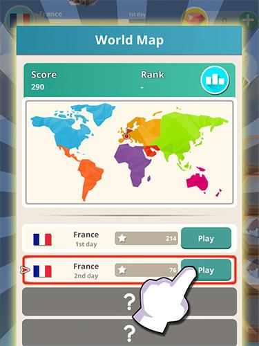 Logikspiele World connect : Match 4 merging puzzle für das Smartphone