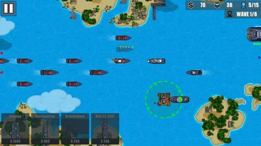 Rundenbasierende Strategiespie Fleet combat 2: Shattered oceans auf Deutsch