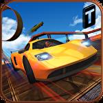 Car stunt race driver 3D Symbol