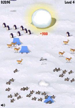 Arcade-Spiele: Lade Schneeball-Rennen auf dein Handy herunter