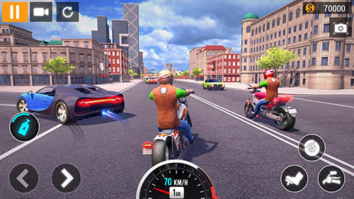 City motorbike racing pour Android