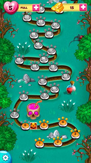 Arcade Halloween town: Bubble shooter for smartphone