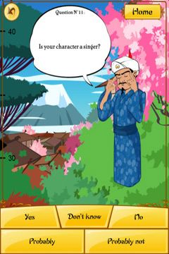 Simulation games: download Akinator the Genie to your phone