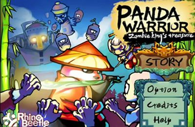 logo Panda Warrior: Zombie king's treasure