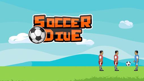 Soccer dive icon