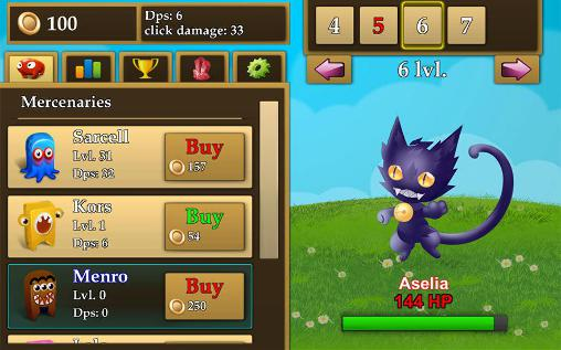 Arcade Fantasy clicker für das Smartphone