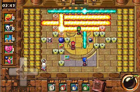 Аркады игры: скачать Bomberman touch 2: Volcano party на телефон