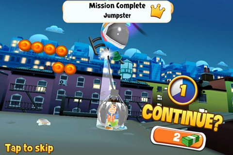 Screenshot Skyline Skaters auf dem iPhone