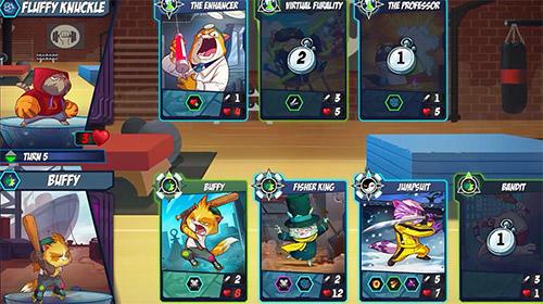 Kartenspiele Tap cats: Battle arena auf Deutsch