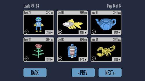 Captura de tela Mar de quadrados no iPhone