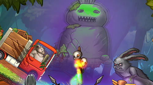 Angry bunny race: Jungle road captura de pantalla 1