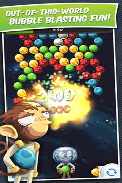 Screenshot Blasen-Galaxy mit Freunden auf dem iPhone