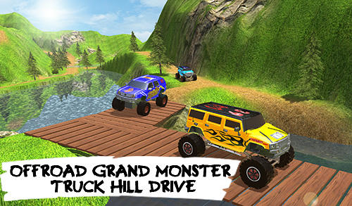 Offroad grand monster truck hill drive Symbol