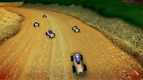Rush kart racing 3D Screenshot