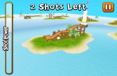 Screenshot Crazy Island Golf! on iPhone