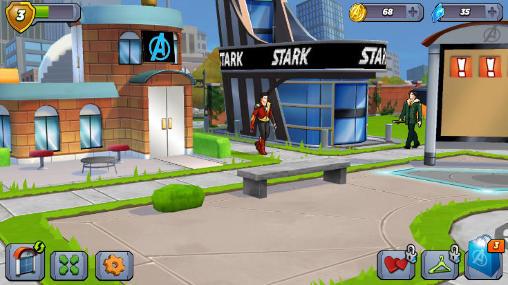 Simuladores Marvel: Avengers academy para teléfono inteligente