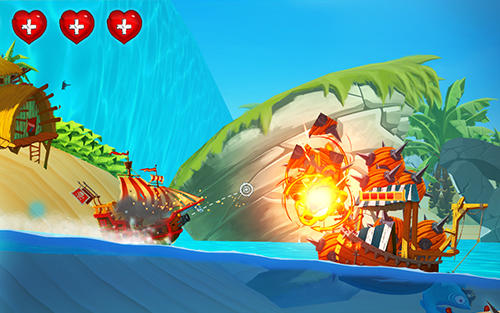 Pirate ship shooting race für Android