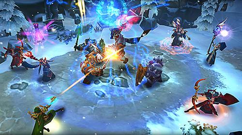 Strategische RPG-Spiele Age of warriors: Dragon discord. Frozen Elantra auf Deutsch