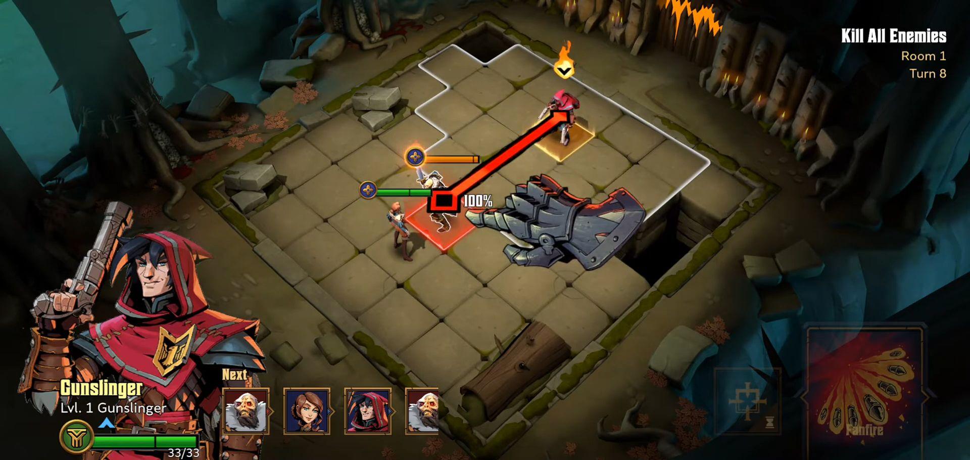Grimguard Tactics: End of Legends captura de tela 1