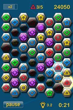 Captura de pantalla Hexágonos en iPhone