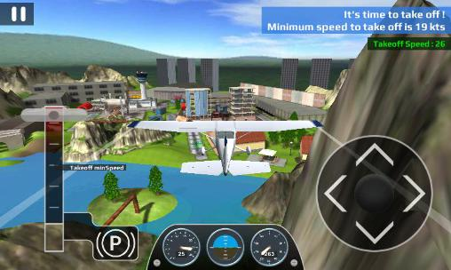 Simulation Airplane flight simulator RC für das Smartphone