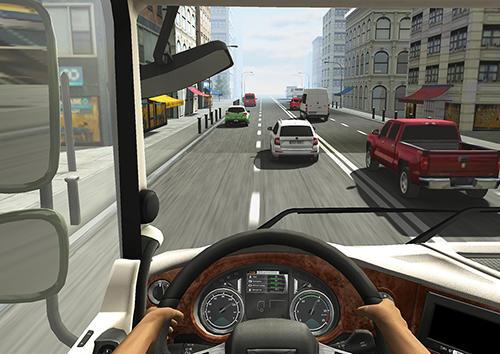 de courses sur l'autoroute Truck racer en français