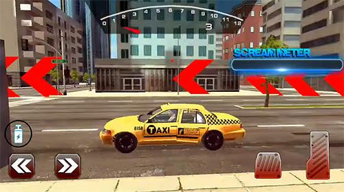 Mental taxi simulator: Taxi game auf Deutsch