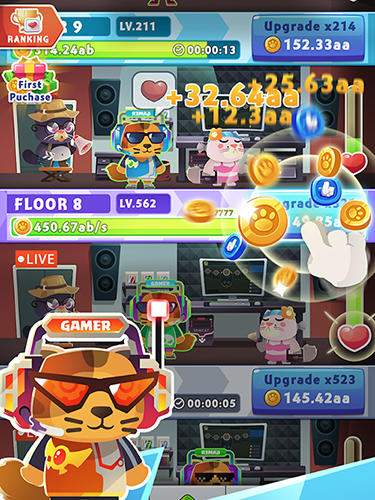 Idle cat tycoon: Build a live stream empire für Android