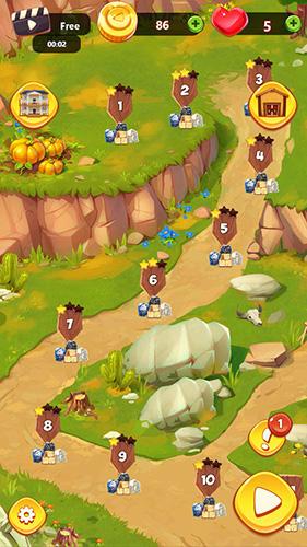 Wild West village: New match 3 city building game Screenshot