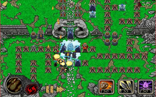 Strategy games: download Warlock defense to your phone