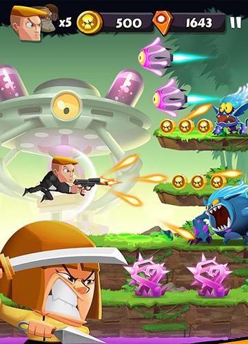 Arcade-Spiele: Lade Knallharte Band: Lauf und Schieß auf dein Handy herunter