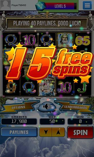 Zeus slots: Slot machines для Android