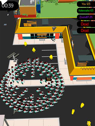Zombie crowd in city after apocalypse Screenshot