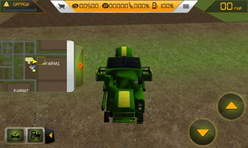 Farm tractor simulator 3D captura de tela 3